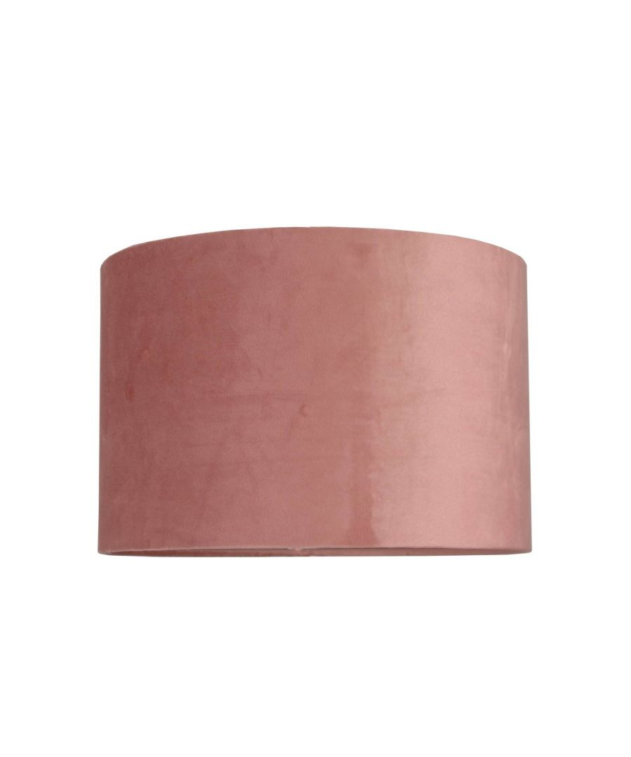 Image for Ortiz Blush Velvet 30cm Pendant Ceiling Light Shade