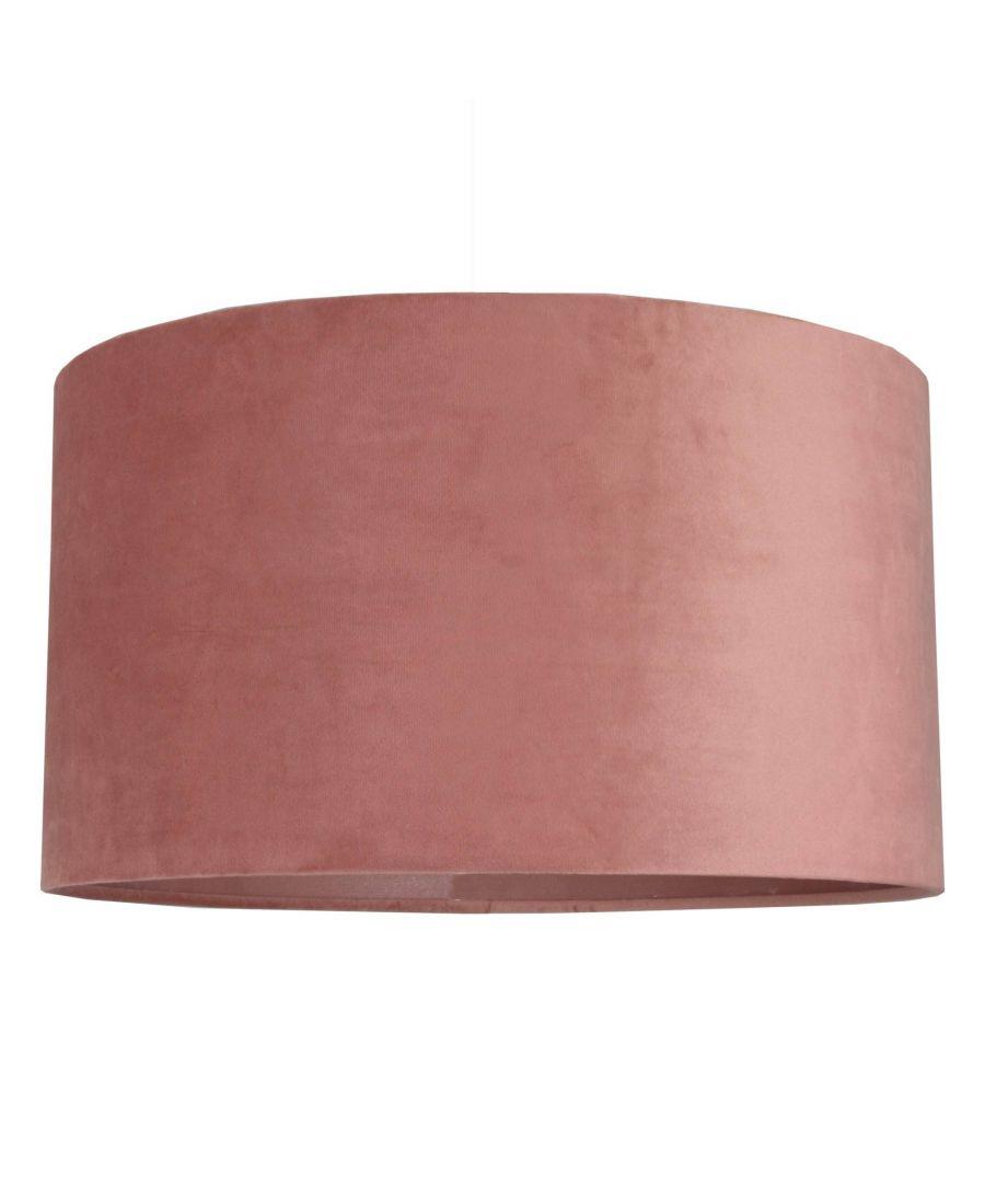 Image for Ortiz Blush Velvet 40cm Pendant Ceiling Light Shade