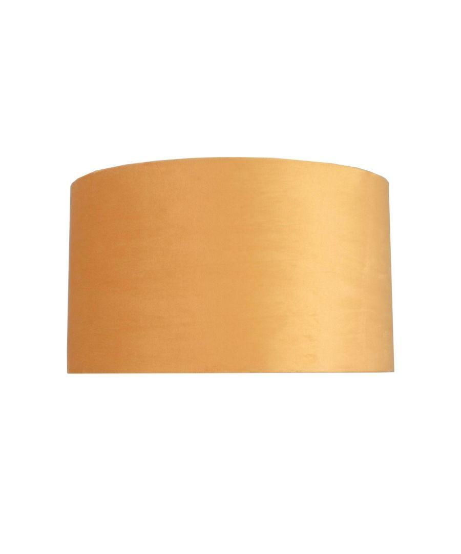 Image for Ortiz Ochre Velvet 30cm Pendant Ceiling Light Shade