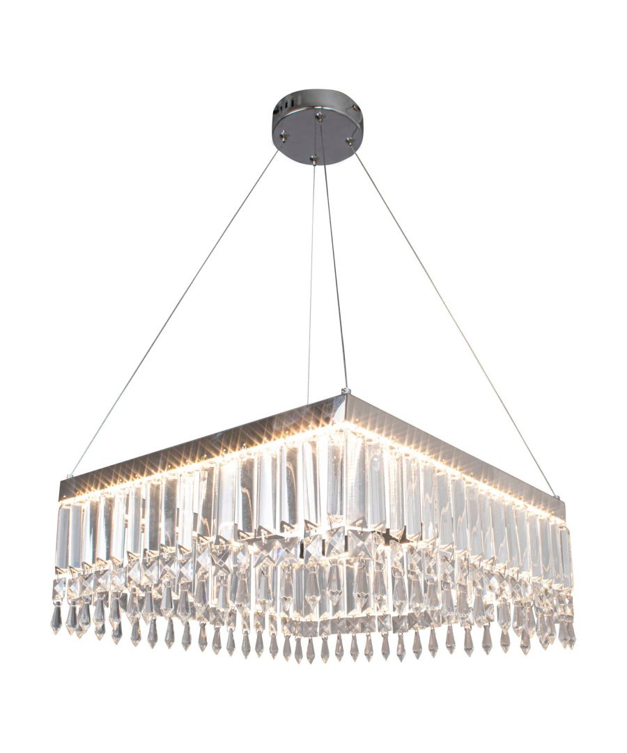 Image for Maisha LED Polished Chrome Pendant Ceiling Light