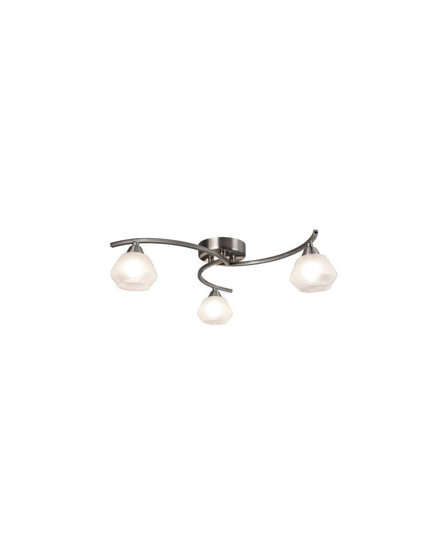 Image for Milner Satin Nickel 3 Light Semi Flush Ceiling Light