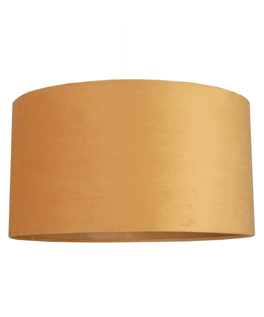 Image for Ortiz Ochre Velvet 40cm Pendant Ceiling Light Shade