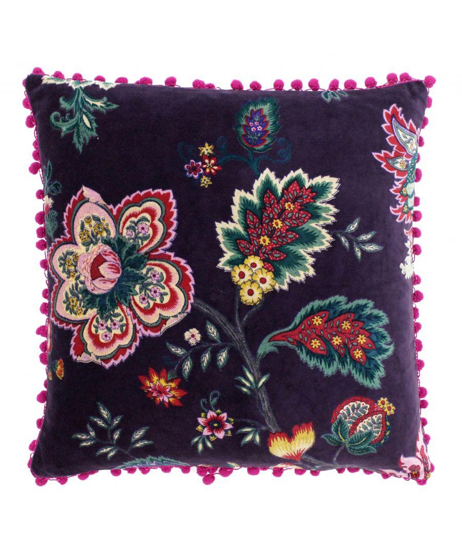 Image for Palampur 50X50 Poly Cushion Damson