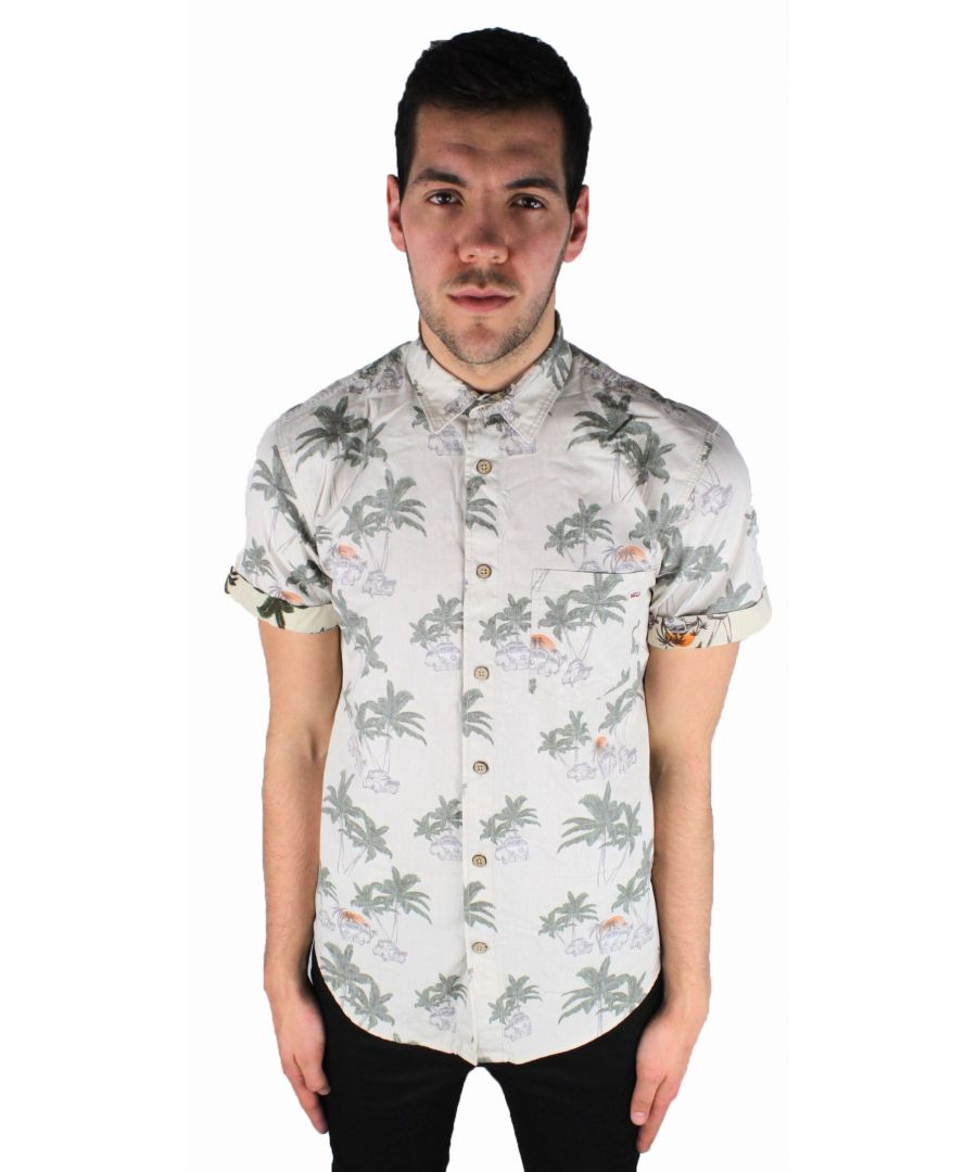 Image for Jack and Jones Palm One Cream Casual Shirt