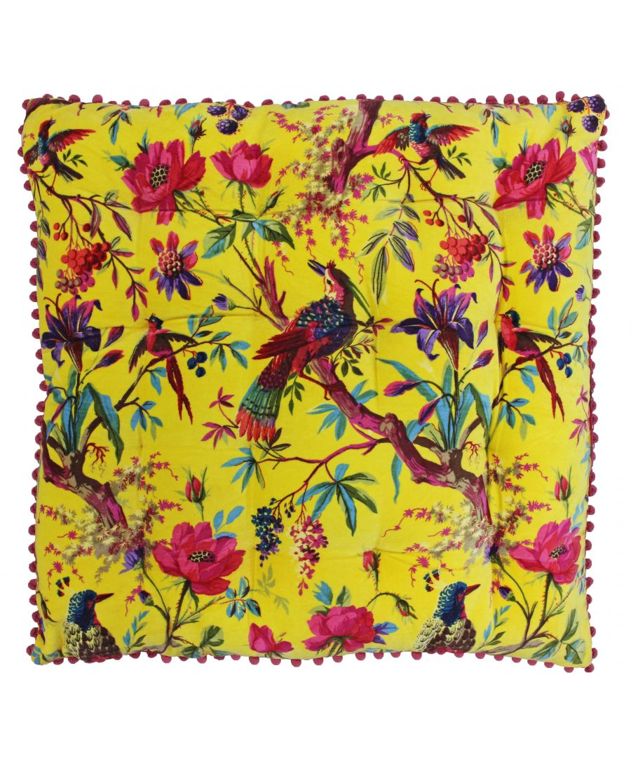Image for Paradise 70X70 Floor Cushion Yellow