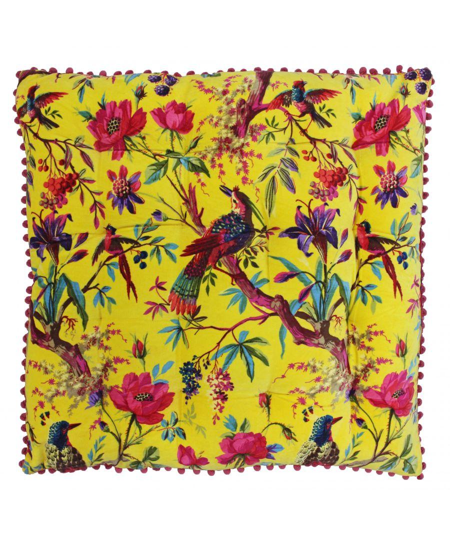 Image for Paradise 70X70 Floor Cushion Yellow