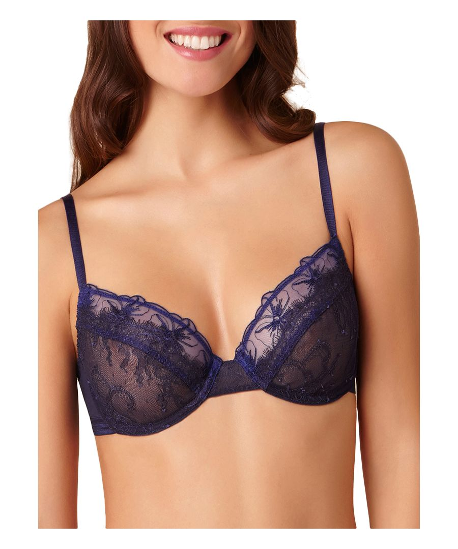 Image for Double Play Sheer See-through Plunge Bra