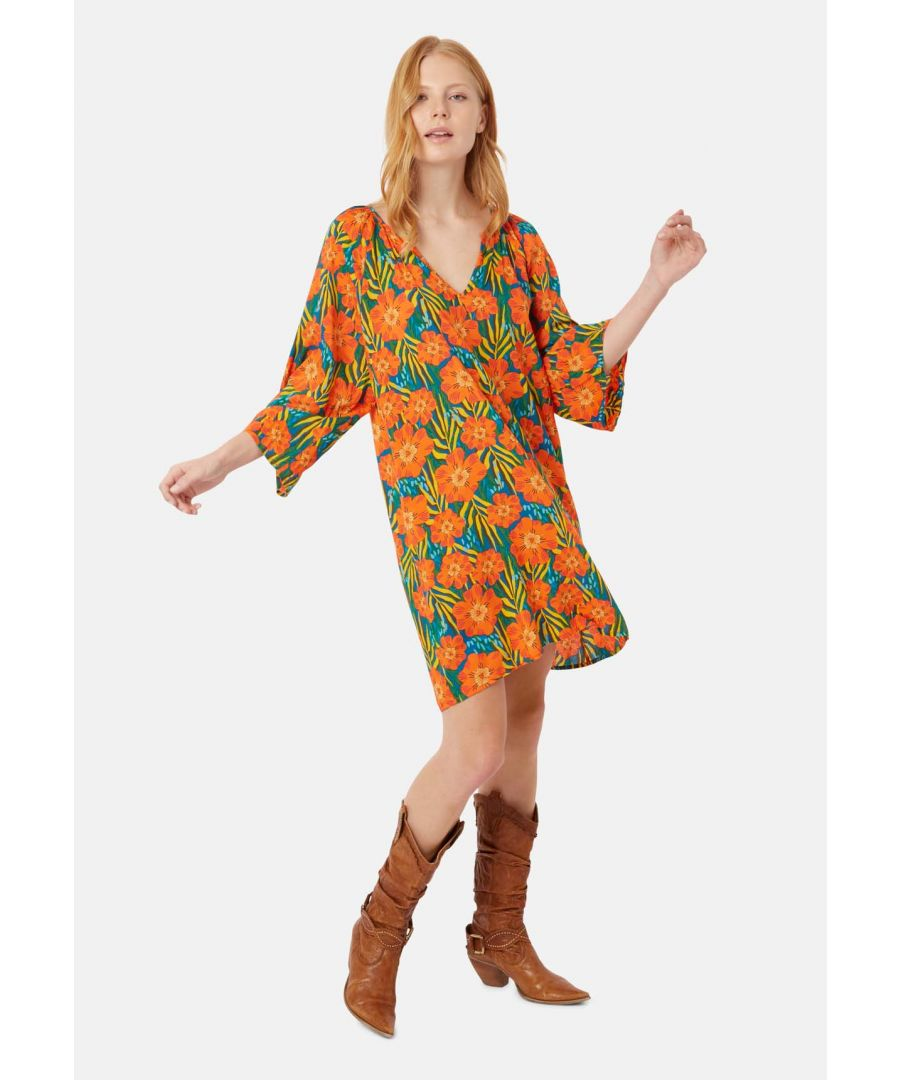 Image for Long Sleeve Moments Dress in Multicoloured Floral Print
