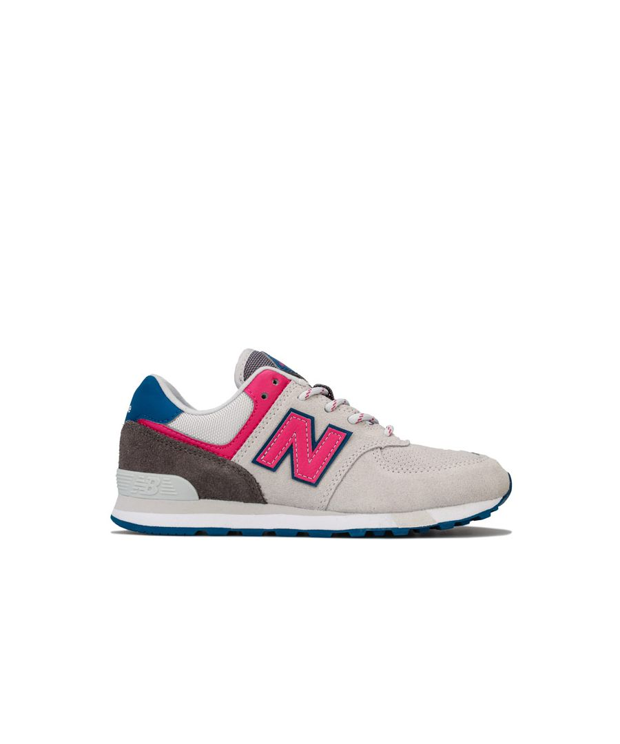 Image for Girl's New Balance Children 574 Trainers in Grey