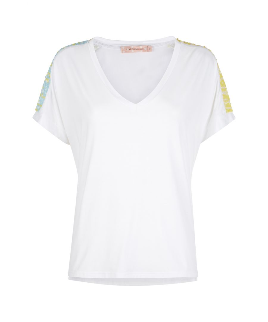 Image for Pastel Dreams Sequin T-Shirt in Blue and Yelow