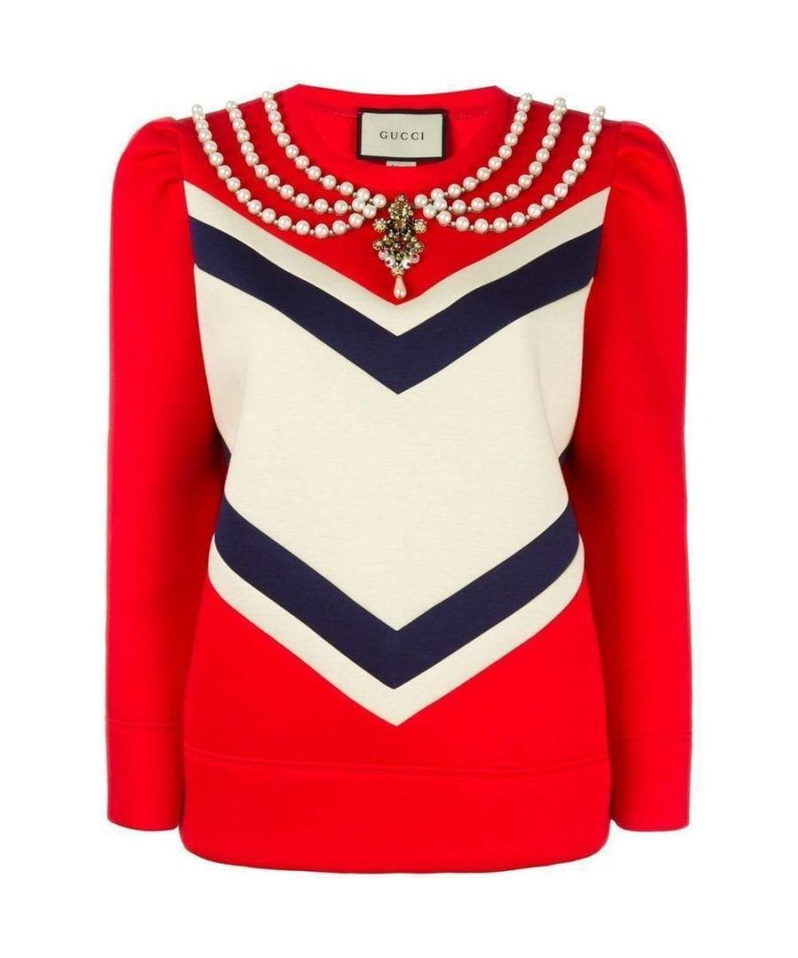 Image for Gucci Pearl Embellished Jersey Sweatshirt