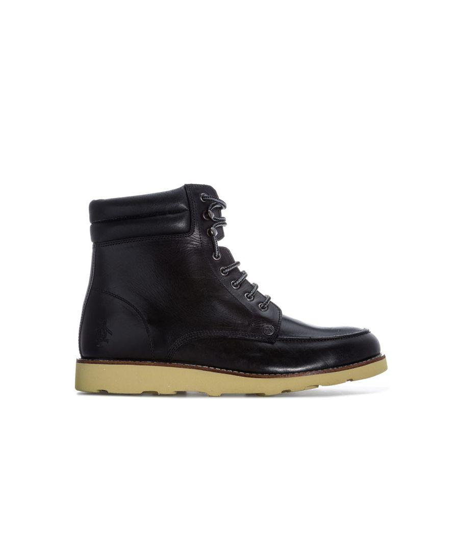 Image for Men's Original Penguin Clondyke Leather Boots in Black