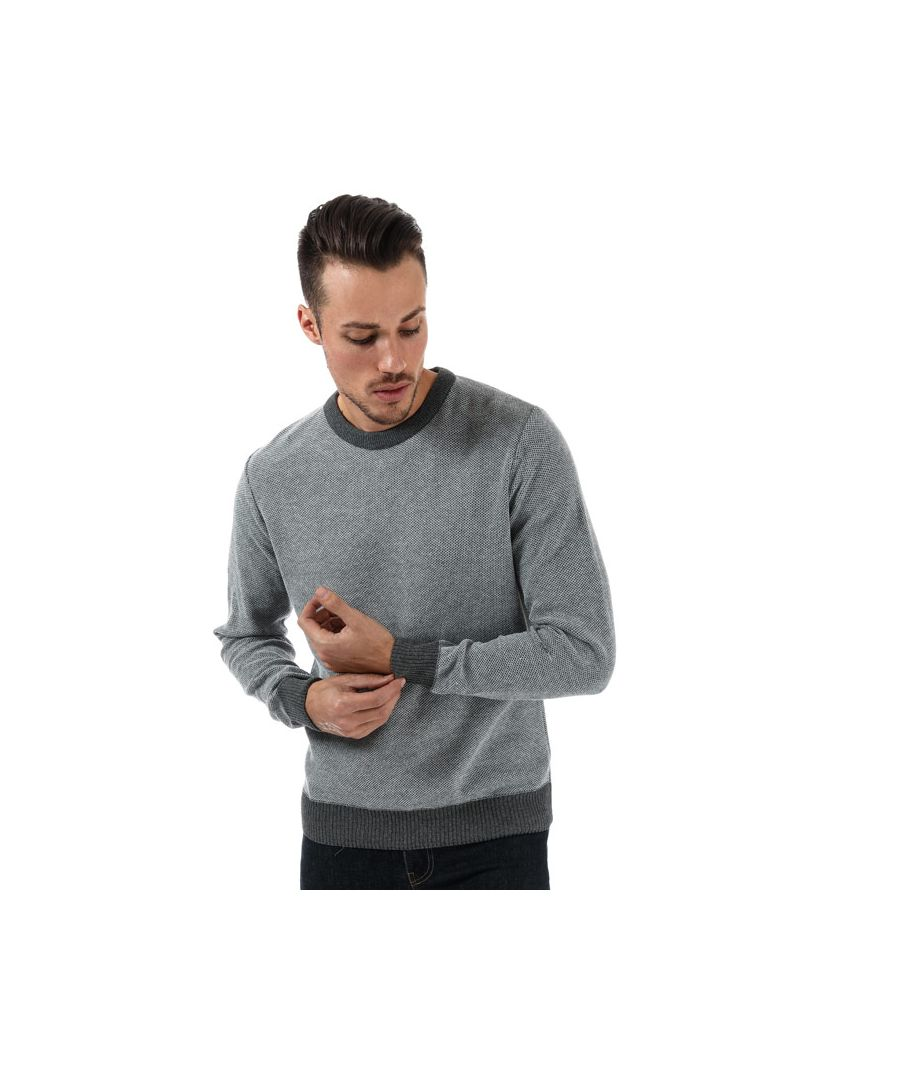 Image for Men's Ringspun Peru Crew Knit in Grey