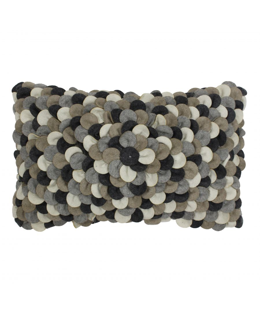 Image for Petals 30X50 Poly Cushion Grey