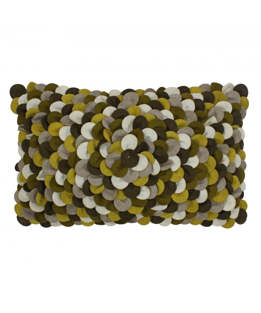 Image for Petals 30X50 Poly Cushion Ochre