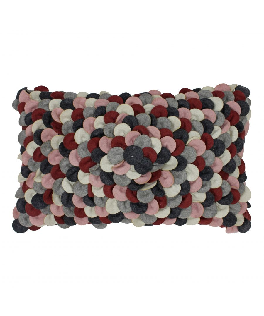 Image for Petals 30X50 Poly Cushion Plum