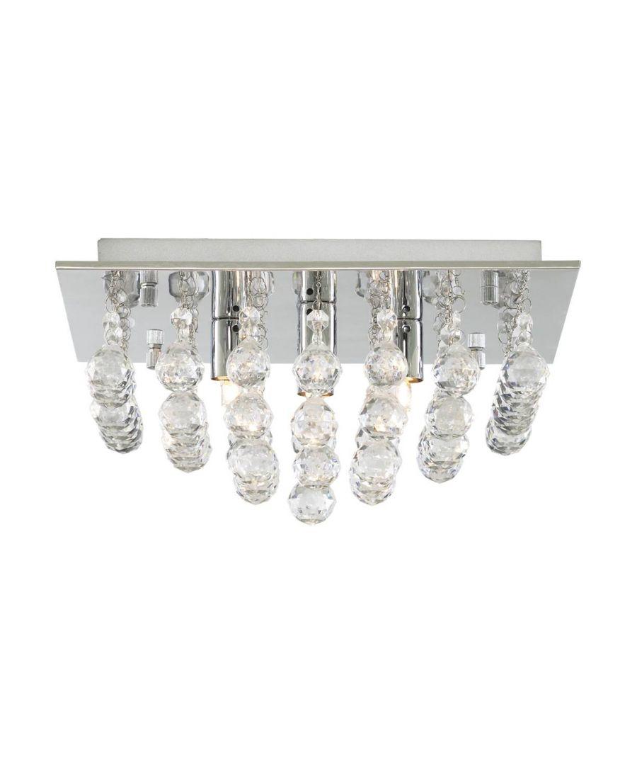 Image for Diana 4 Light Semi Flush Polished Chrome Ceiling Light