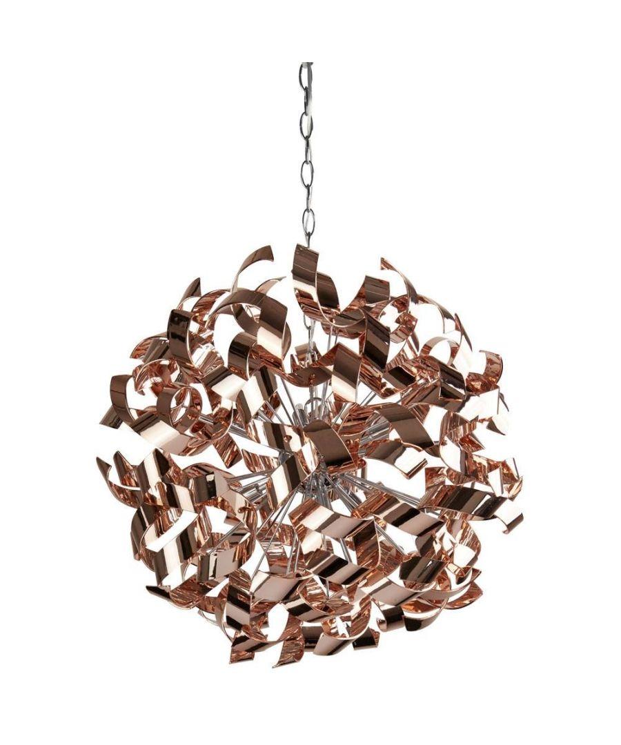 Image for Lyndsay 6 Light Ceiling Light Rose Gold