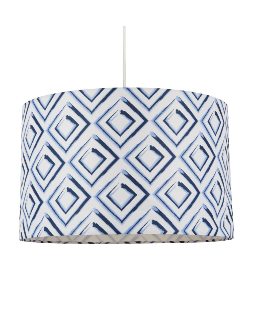 Image for Leoti 40cm Blue and White Drum Shade