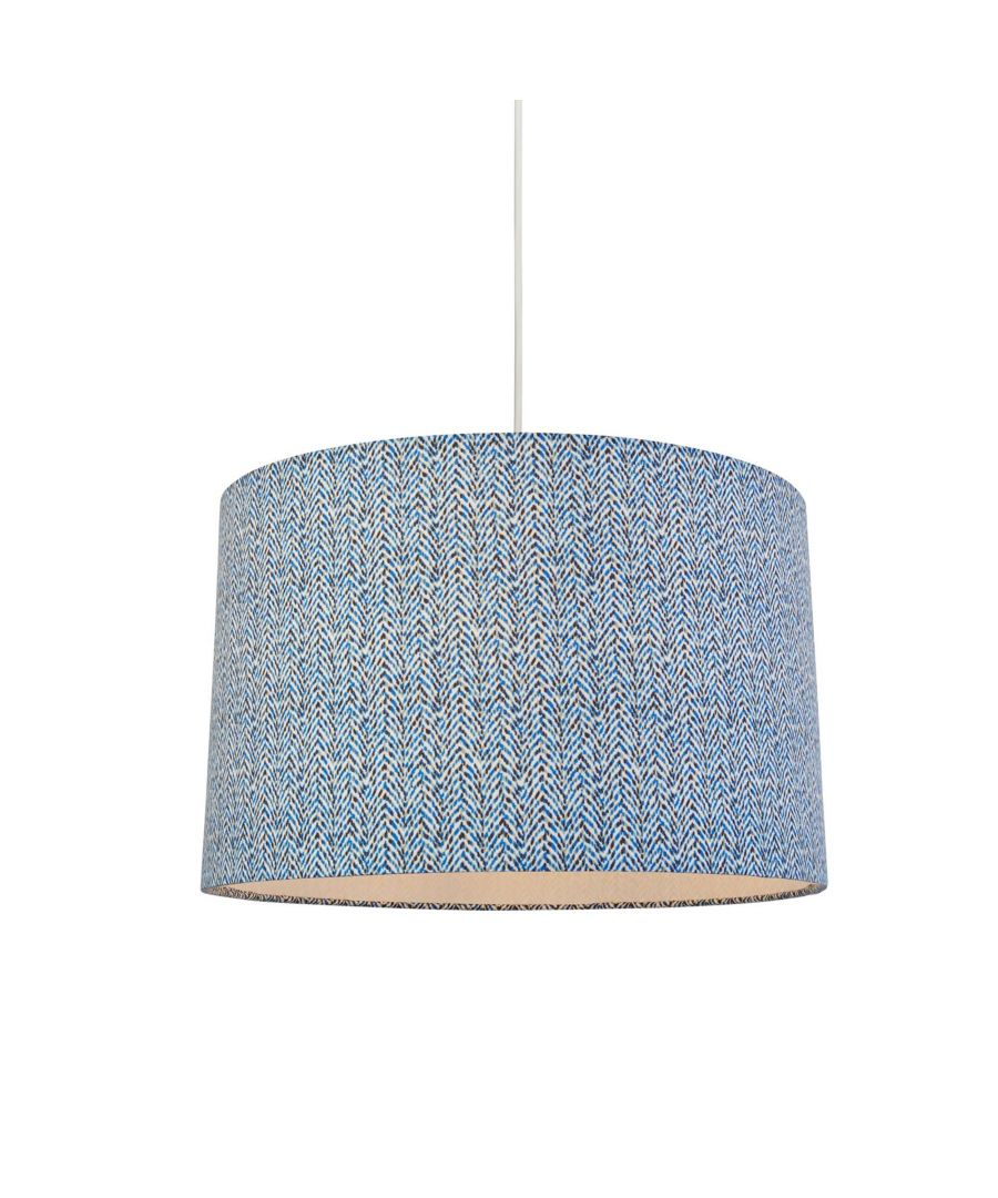 Image for Armon 30cm Blue Fabric Drum Shade