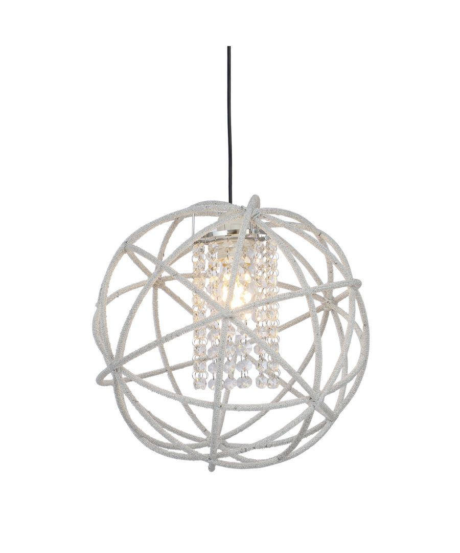 Image for Veljo 35cm Ceiling Pendant Shade with Crystal Detail