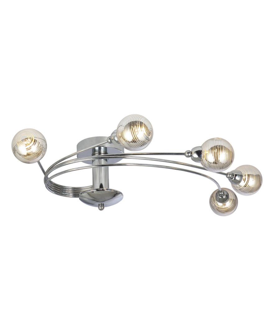 Image for Tiia 5 Light Polished Chrome Semi Flush Ceiling Light