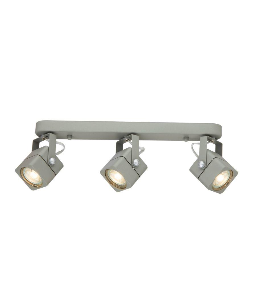 Image for Helju 3 Light Grey Ceiling Spotlight Bar