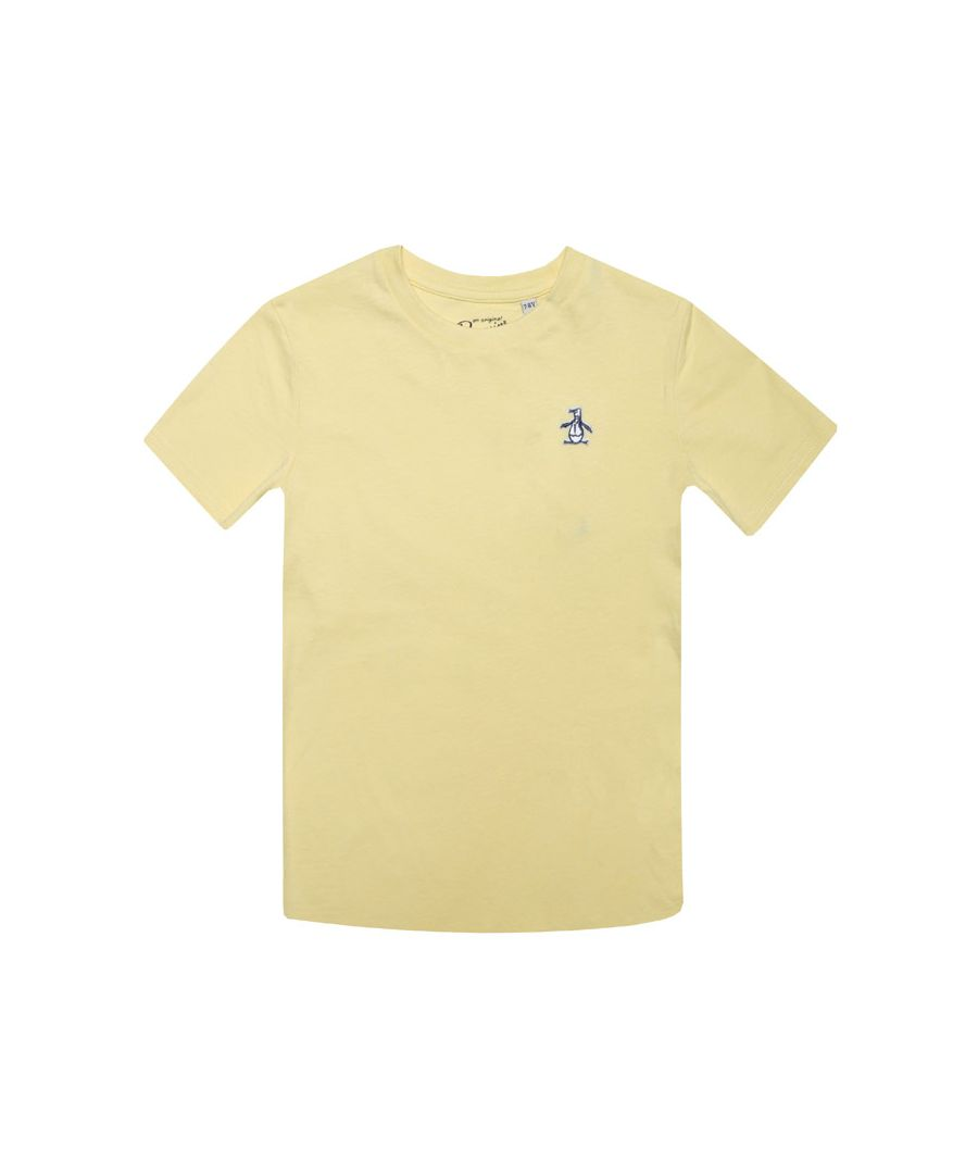 Image for Boy's Original Penguin Junior Penguin T-Shirt in Yellow