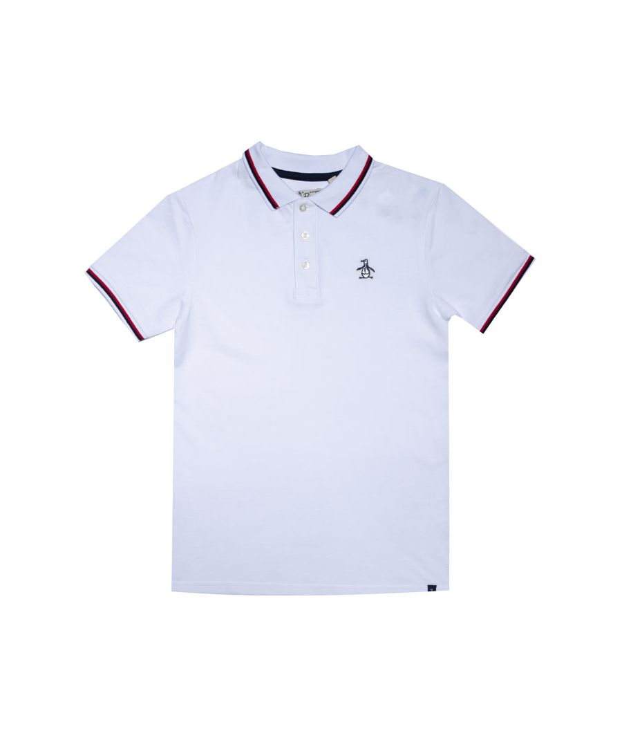 Image for Boy's Original Penguin Junior Contrast Tipping Polo Shirt in White