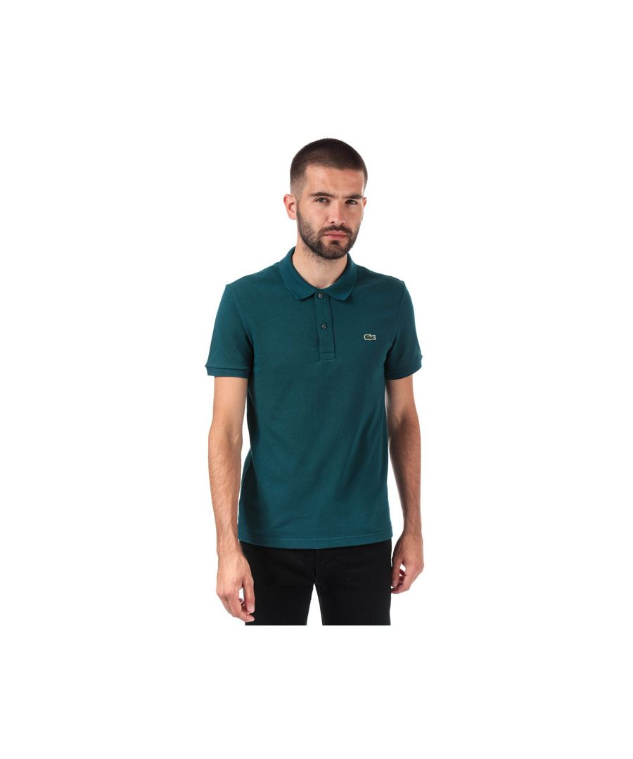 Image for Men's Lacoste Slim Fit Petit Piqué Polo Shirt in Green