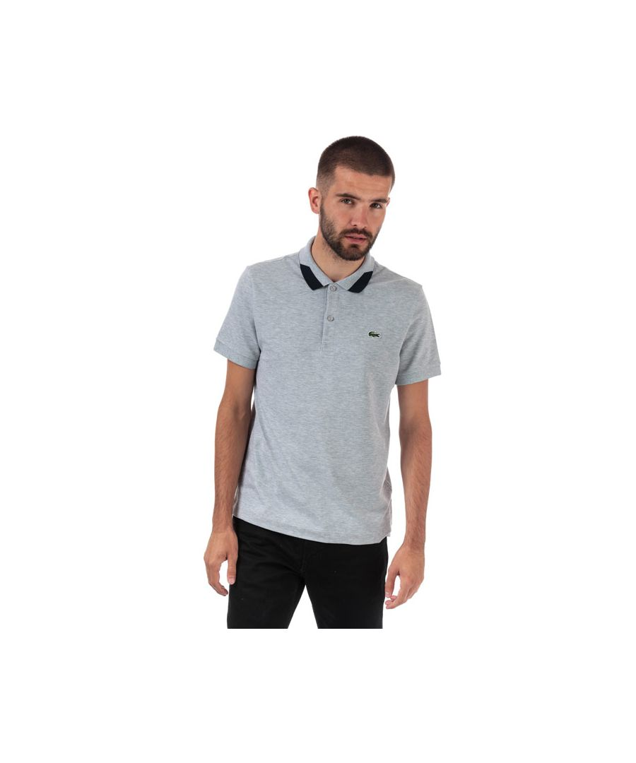 Image for Men's Lacoste Regular Fit Stretch Pima Piqué Polo Shirt in Grey