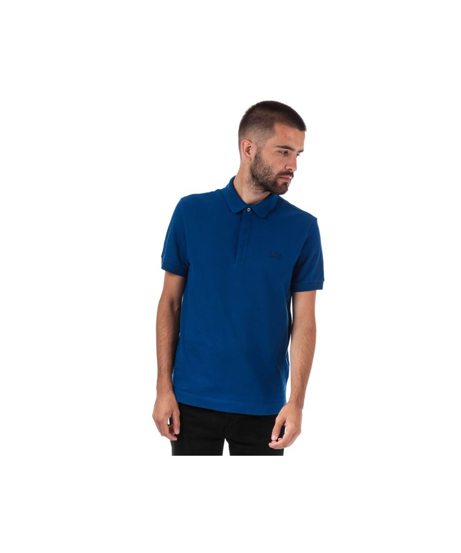 Image for Men's Lacoste Paris Regular Fit Cotton Piqué Polo Shirt in Blue