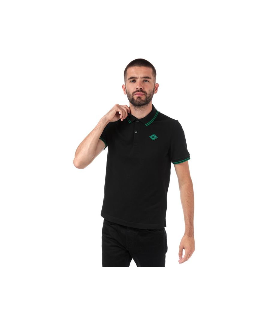 Image for Men's Lacoste Slim Fit Cotton Polo Shirt in Black