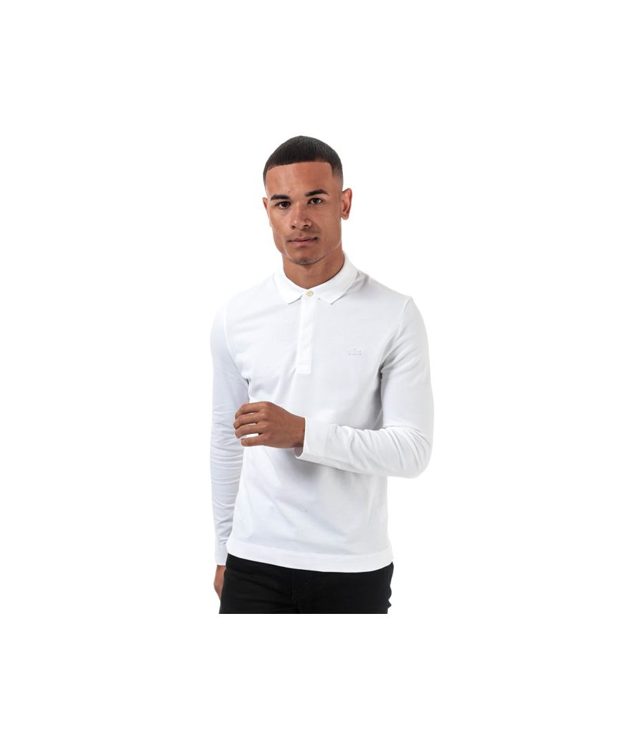Image for Men's Lacoste Regular Fit Long Sleeve Paris Polo in White