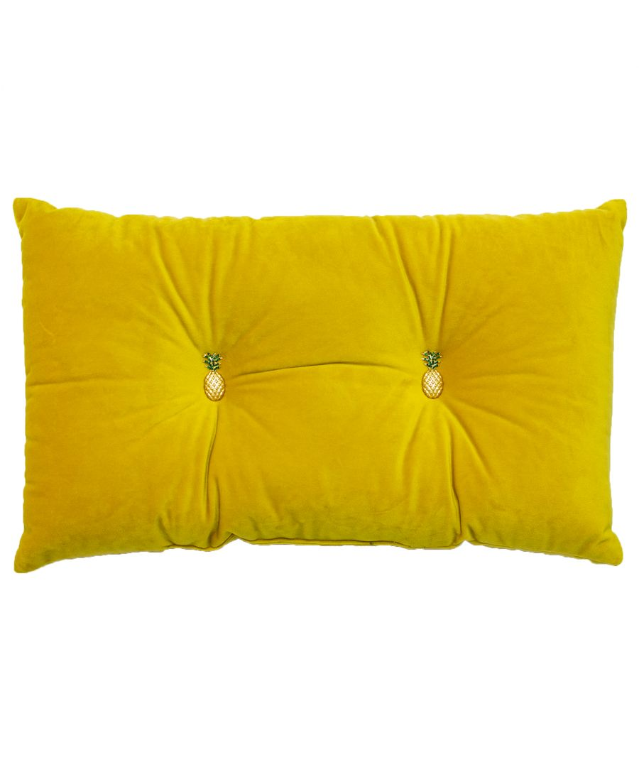 Image for Pineapple 30X50 Pf Cushion Yello