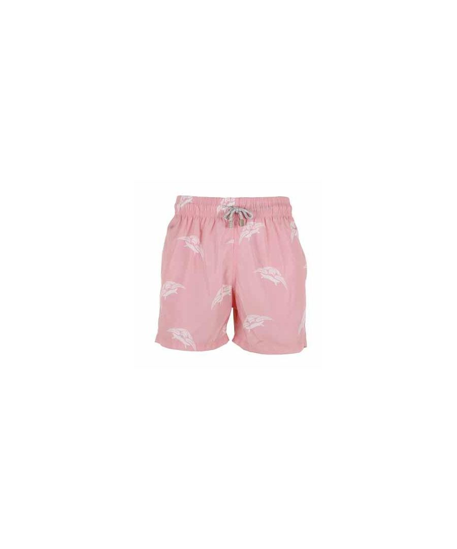 Image for Boy's Pink Turtle Swim Shorts