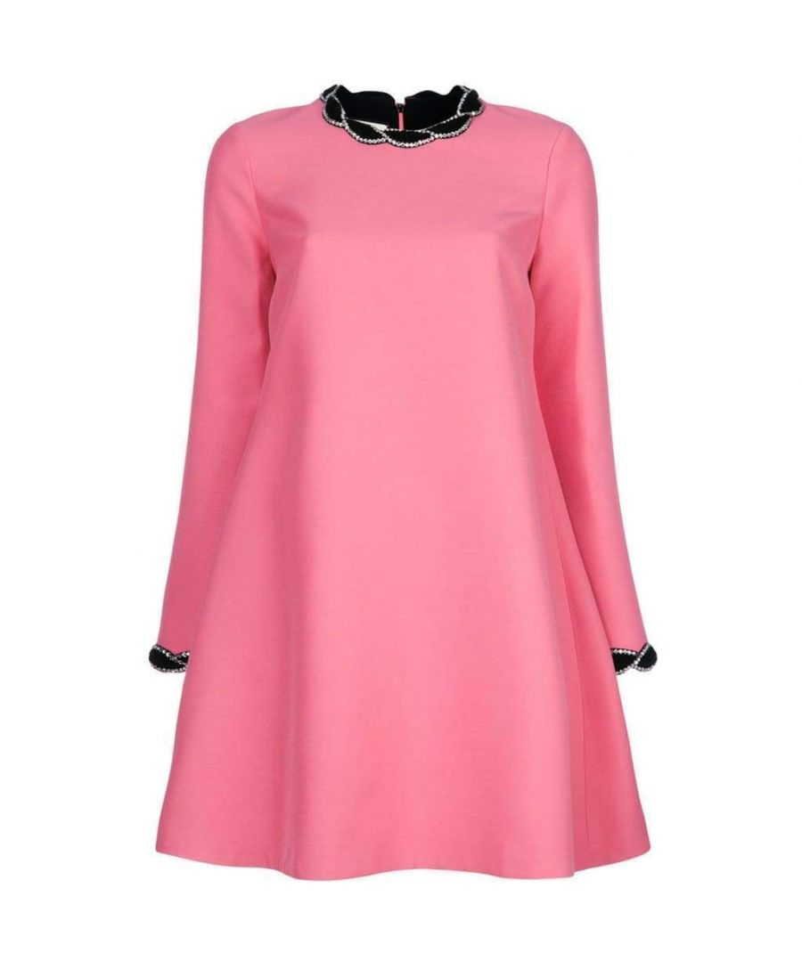 Image for Gucci Pink Velvet Trim Dress