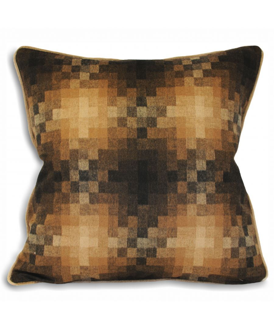 Image for Pixel 45X45 Poly Cushion Caramel