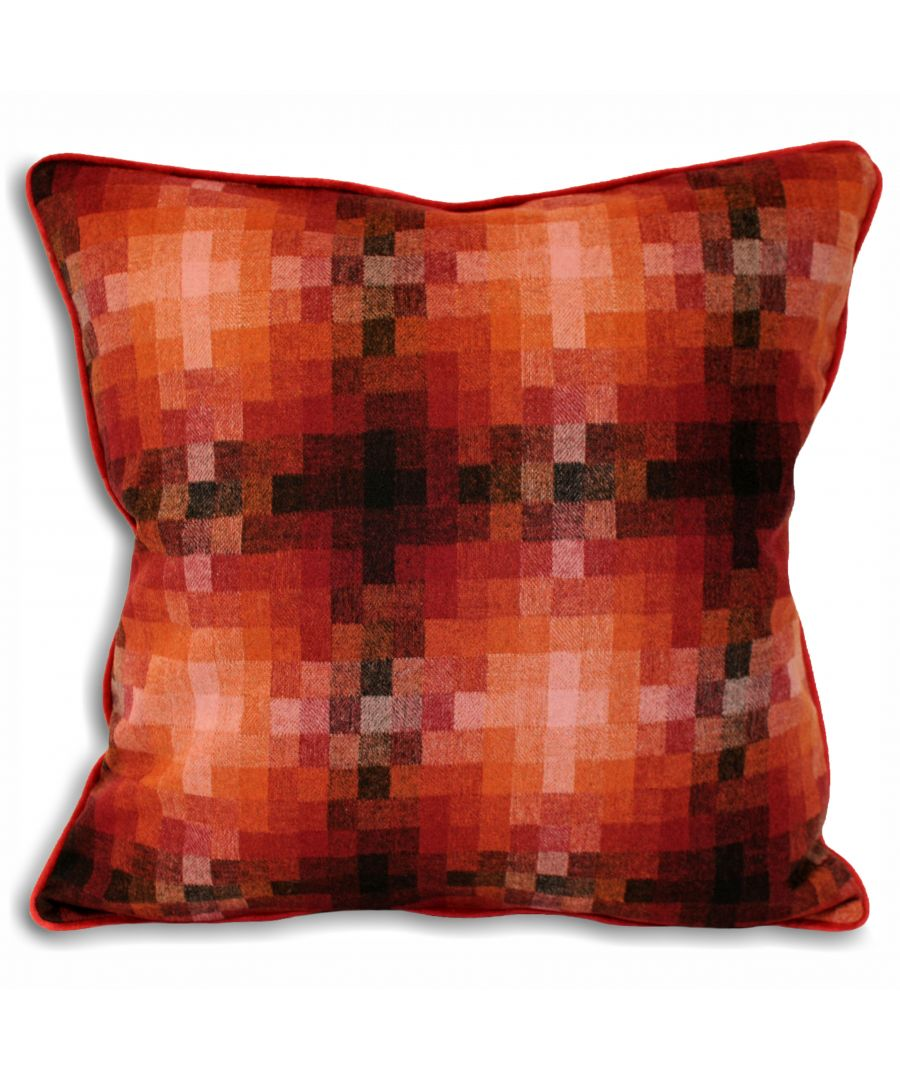 Image for Pixel 45X45 Poly Cushion Sunset