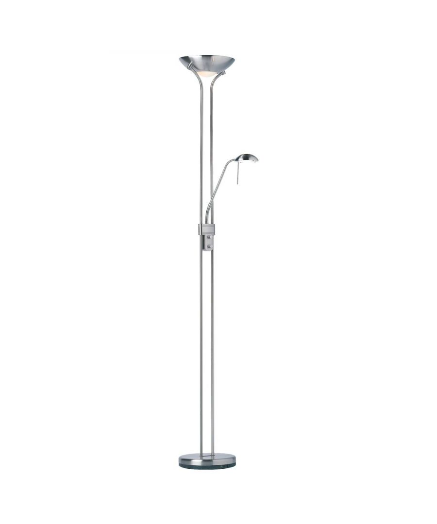 Image for Piza Mother & Child Floor Lamp Satin Chrome