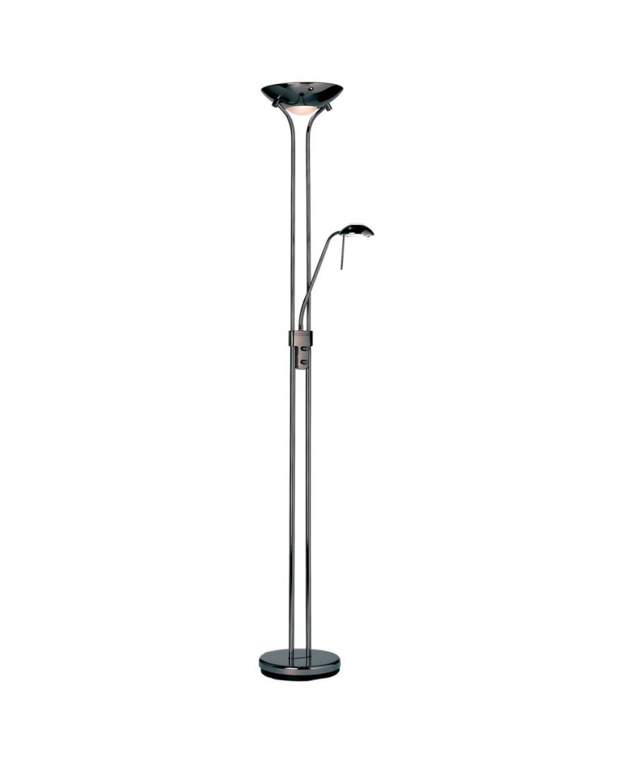 Image for Piza Mother & Child Floor Lamp Black Chrome