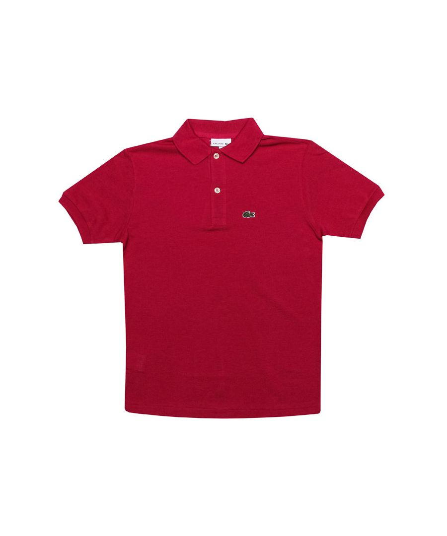Image for Boy's Lacoste Junior Polo Shirt in Cerise