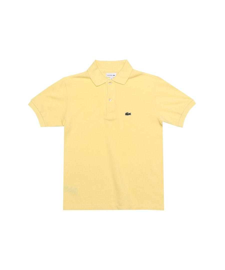 Image for Boy's Lacoste Junior Polo Shirt in Lemon