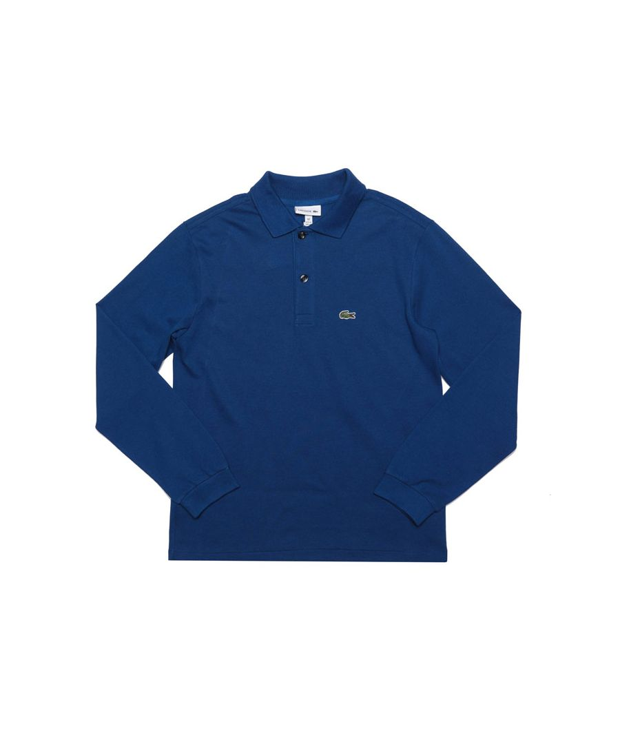 Image for Boy's Lacoste Infant Long Sleeve Polo Shirt in Blue