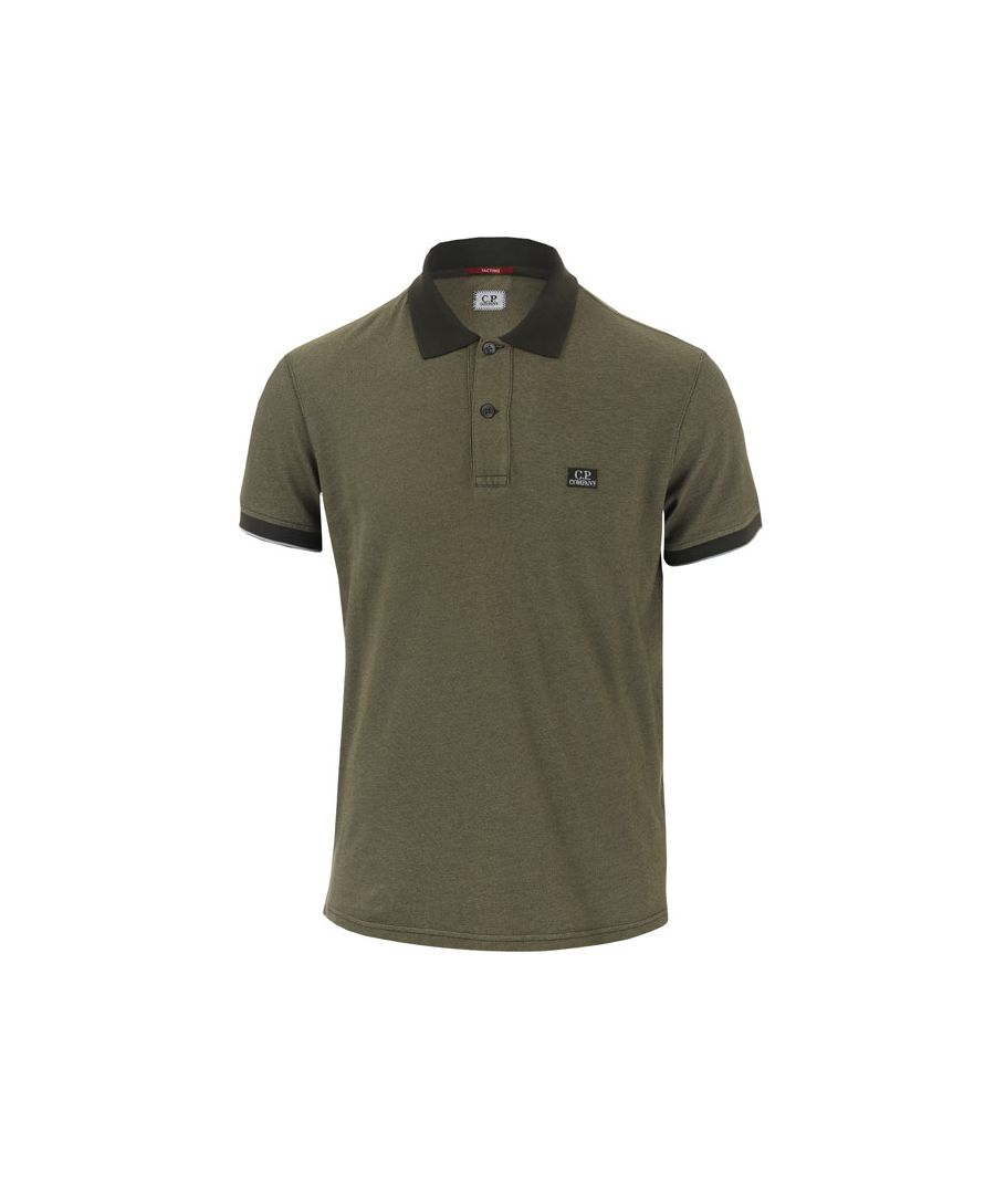 Image for Men's C.P. Company Garment Dyed Polo Shirt in Khaki