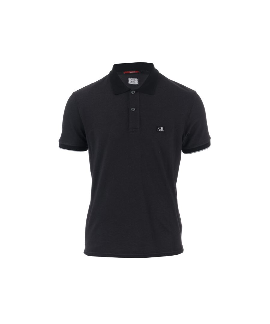 Image for Men's C.P. Company Garment Dyed Polo Shirt in Black