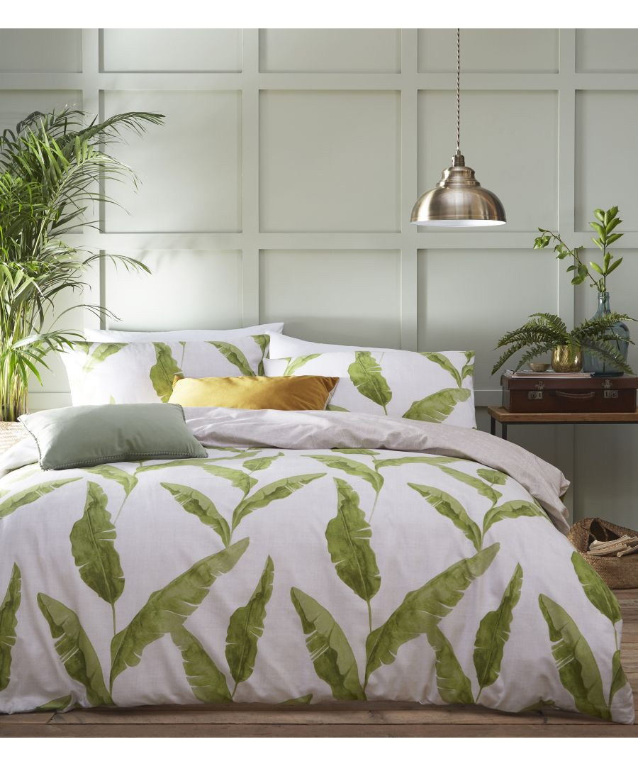 Image for Plantain Duvet Set Nat/Green