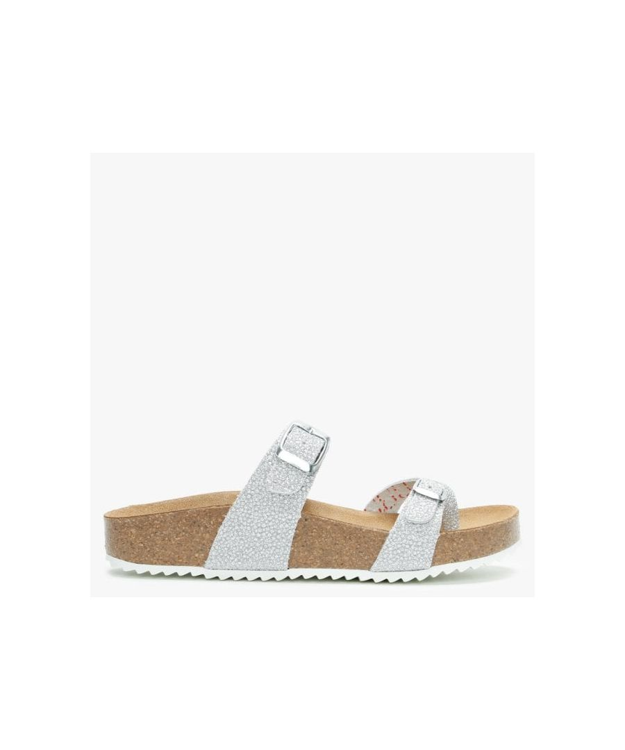 Image for Daniel Plume Metallic Cross Over Toe Strap Mules