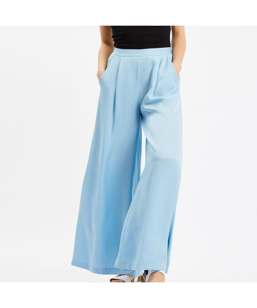 Image for Pensive Memories Wide Leg Trouser in Blue