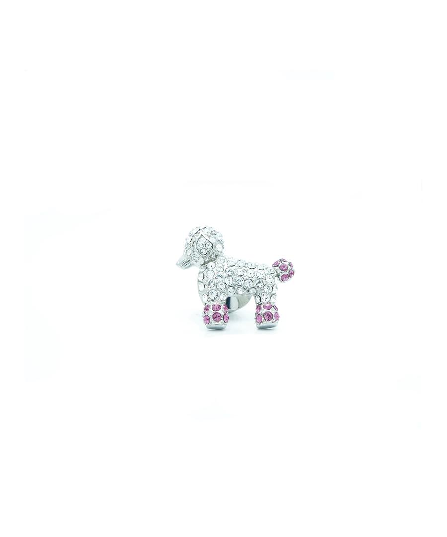 Image for Swarovski Crystal Poodle Pin Badge
